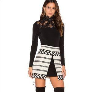 Alice + Olivia Daysi Tweed Tulip Mini Skirt